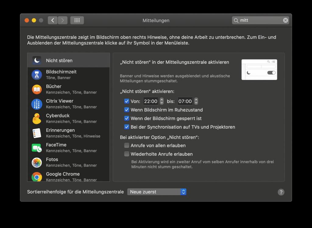 Mitteilungen können Deinen Mac aus den Ruhezustand aufwecken.