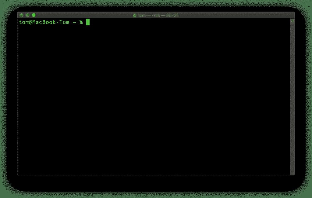 Jetzt müssen wir ein paar Befehle eingeben. Dazu wird das Terminal am Mac benötigt.