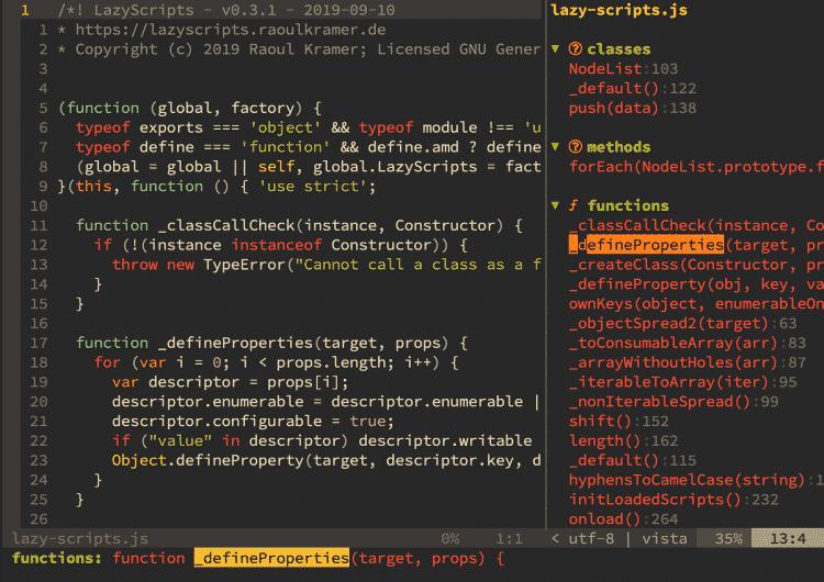 So sieht Vista bei einem Javascript-Programm aus.